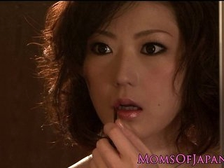 Closeup asian housewife fucked overwrought her partner