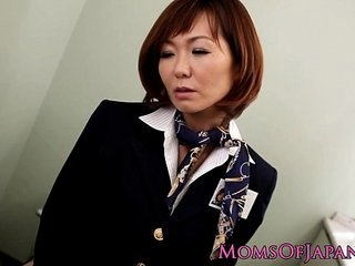 Sayuri Kotose anal solo toy plays on toilet