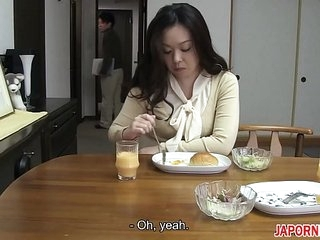 JAV Uncensored around english subtitle: Mom gives lass blowjob before leaving
