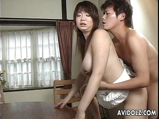 Asian busty shrew gets her hairy muff primed