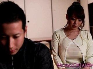 Mature Japanese Hitomi Tanaka titty enjoyment from