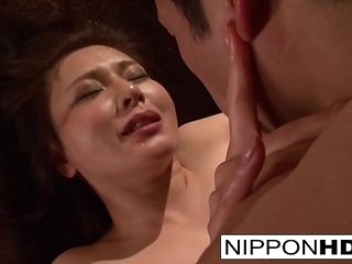 Asian hottie wants her pussy filled roughly cum