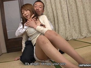 Fretful milf gets fucked in a hot trine