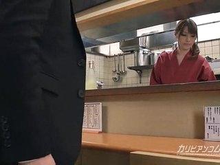 Japanese titillating izakaya service