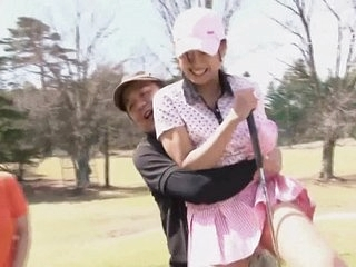 Subtitled uncensored HD Japanese golf in default exposure