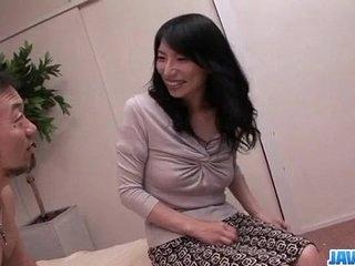 Yukari brunette Japanese gets pumped not far from rough initiative