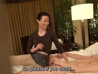 Subtitled Japanese milf massage therapist seduction surrounding HD
