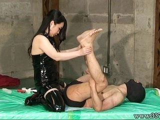 Japanese Femdom Related Hang and Strapon Anal
