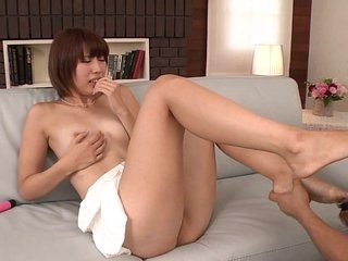 Uncensored long-legged Japanese Seira Matsuoka stripped for oral