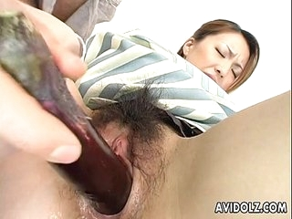 Japanese dolly Tomoe Hinatsu sucks and fucks fullest extent