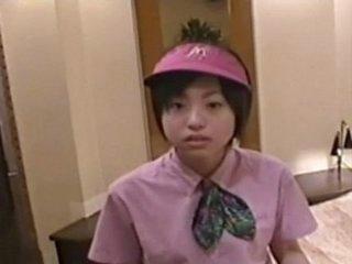 Japanese girl ( 18)  in the air McDonald's uniform 001