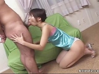Lay Japanese teen gives blowjob Saturated