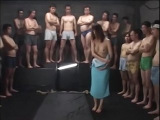 Japanese Teen Tied keel over used as a cum target