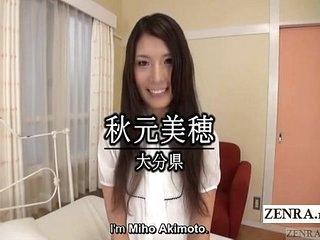 Shamefaced naked Japanese amateur shy striptease Subtitled