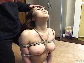 Subtitled Japanese BDSM hot wax play with licentious bush-leaguer
