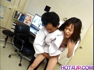 Japanese AV Model nurse is fucked word-of-mouth and in cooter by doctor