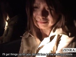 Subtitled Japanese apparition pursue masturbation task