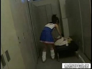 japanese schoolgirl fucked in be passed on alcove room
