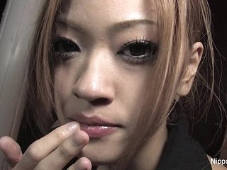 Japanese teen plays fro cum
