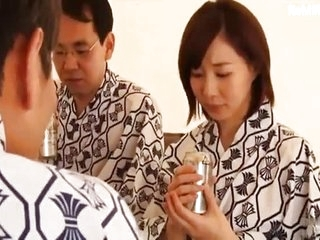 Bordering abhor fucked is his Asian Japanese Milf wife