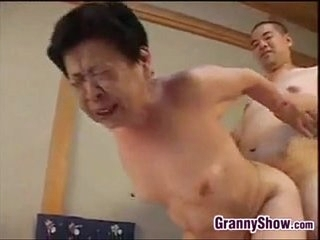 Japanese Grandma Giving A Ripsnorting Blowjob