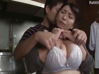 Asian Japanese Milf get molested in the Nautical galley