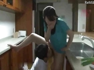 Japanese horny son bangs his nice mom deny hard pressed his pater
