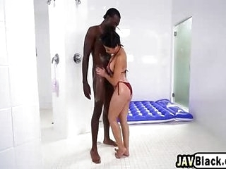 Interracial fucking not far from leader Asian