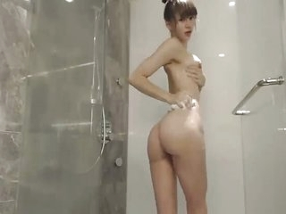 Sexy Sloppy Asian Shower Cam Show
