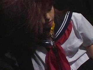 Cum on face for Japan schoolgirl