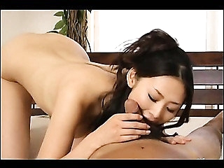 Pretty japanese unreserved in the sky blowjob