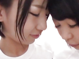 Japanese puberty enjoys lesbian action