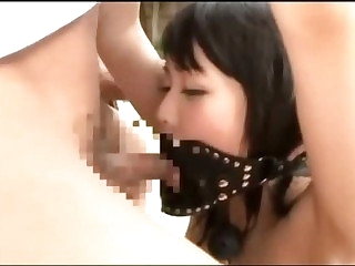Rearward japanese forced nearby blowjob in garden