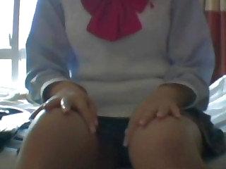 Lay hardcore with schoolgirl Japanese Wakana