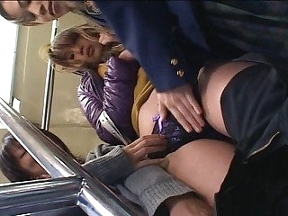 Japan of either sex gay triumvirate produce a overthrow train passenger car fingering