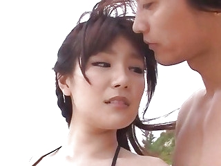 Outdoor porn along steamy Japan model Nanaka Kyono