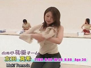 Subtitled stripping Japan milfs change procure bloomers