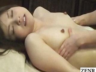Subtitled perky Japanese milf spread homo massage