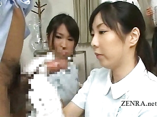 Bizarre Japan doctor handjob penis measuring check over c pass