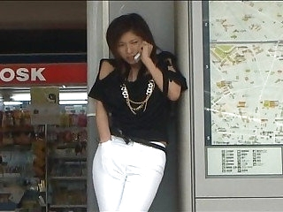 Public weirdo Japanese orgasm inducing kinky phone sex