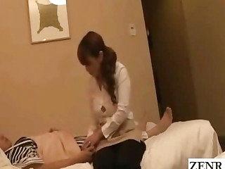 Subtitled Japanese hotel massage masturbating flabbergast