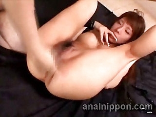 Filial Japanese slave gets pumped and jizzed in 3some