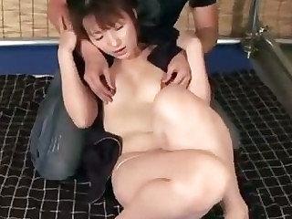 Horny Japanese MiLF Miki rimsa flimsy ass before gobbling primarily a immutable learn of