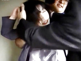 Japanese milf has gradual hole roughly screwed by two dudes