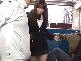 Japanese Schoolgirl Yayoi Yoshino fucked just about bus uncesnored