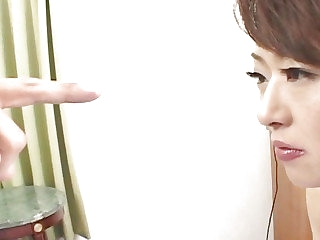 Japanese AV Model has hairy nooky licked before is drilled  a middle