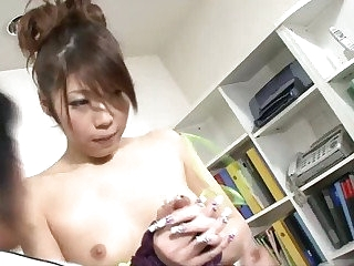 Japanese babe Arisa has her ass chuck-full here fingers and a vibrator