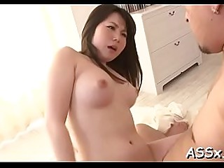 Excellent japanese anal toying