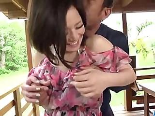 Hot japan girl Minami Asano in gorgeous outdoor porn pellicle