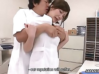 Japanese nurse is punished by being roughly fucked with an increment of creampied